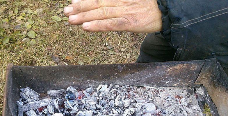 Температура углей в мангале