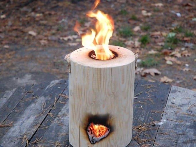 Финская свеча с двумя отверстиями