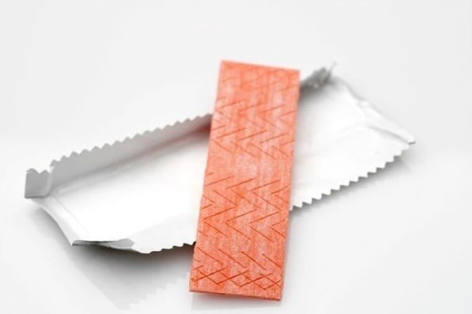 Фольга от жвачки с бумажной прослойкой