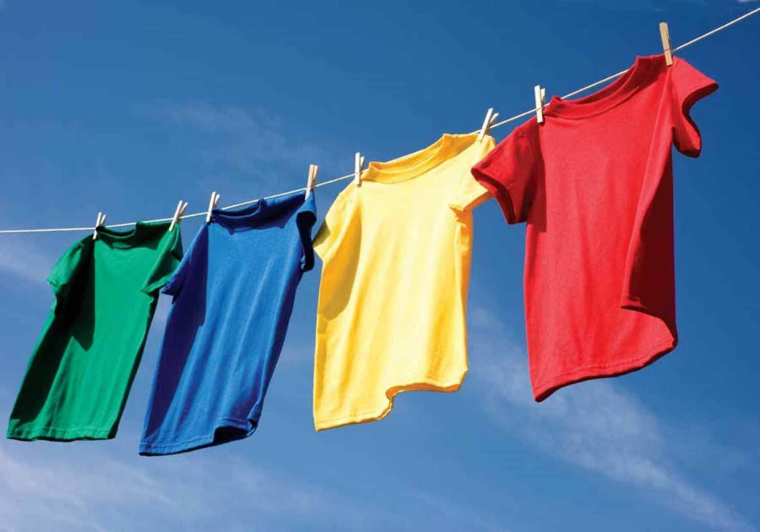 Сушение одежды на солнце