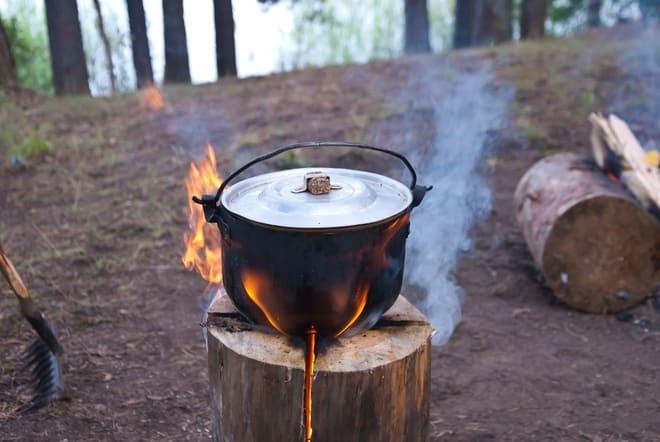 Готовка на финской свече