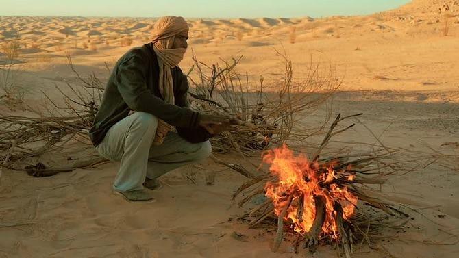 Если в пустыне не найдете дров для костра, то можно сделать простой факел
