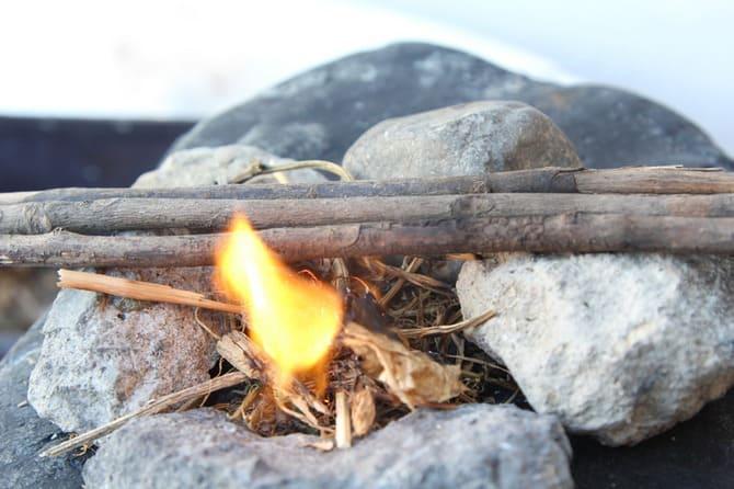 Таким способом получения огня издавна пользуются лесники и егеря