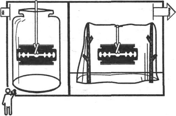 Компас из лезвия и бутылки