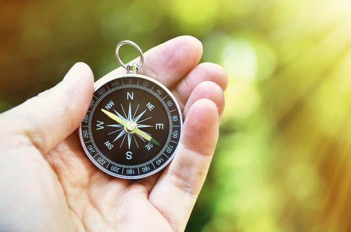 Определение сторон света по компасу