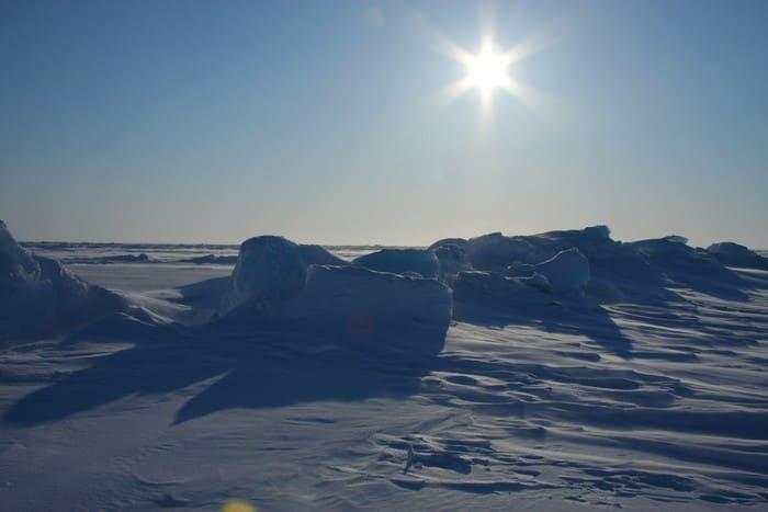 Солнце на Северном полюсе
