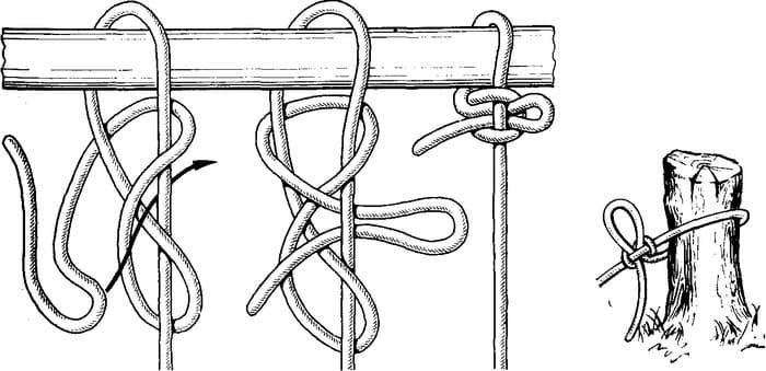 Ведерный быстро развязывающийся узел