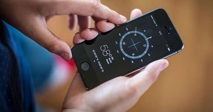 Компас в телефоне iPhone