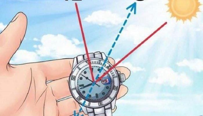 Ориентирование по часам и солнцу