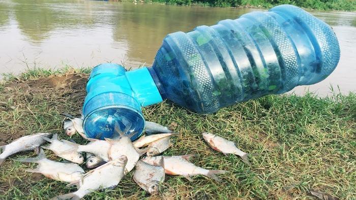 Пустая бутылка может стать альтернативным средством для рыбной ловли