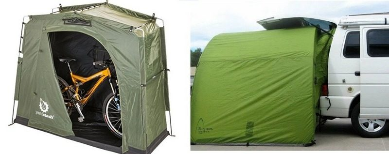 Автопалатка Tentris ArcHaus 6S и палатка для велосипедов Yardstash III