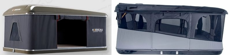 Автопалатки: MAGGIOLINA CARBON FIBER Small (AutoHome) MCF 01 и Grand Raid XXL Black 160×224