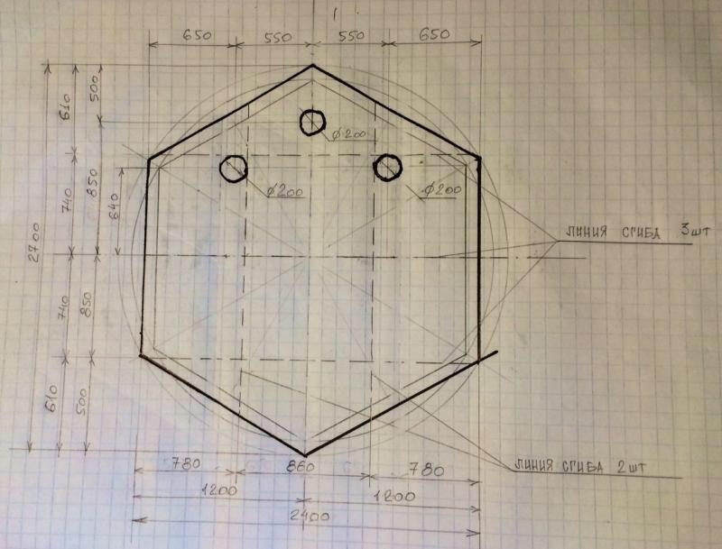 Чертеж пола для палатки куб