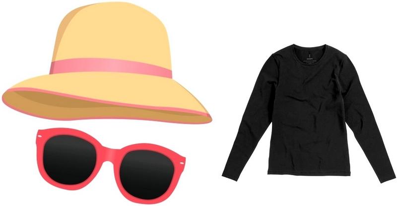Чтобы защититься от солнца следует взять с собой шляпу, очки и одежду с длинным рукавом