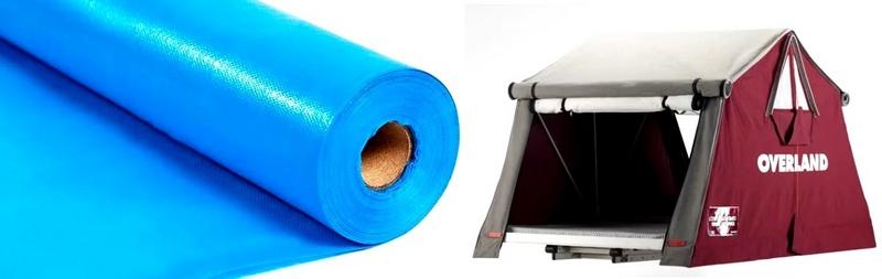 Для изготволения палаток используют полиэстер с силиконовым покрытием