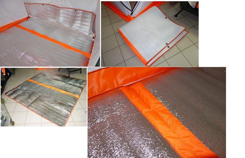 Дополнительный пол для палатки можно изготовить из любого утепляющего материала