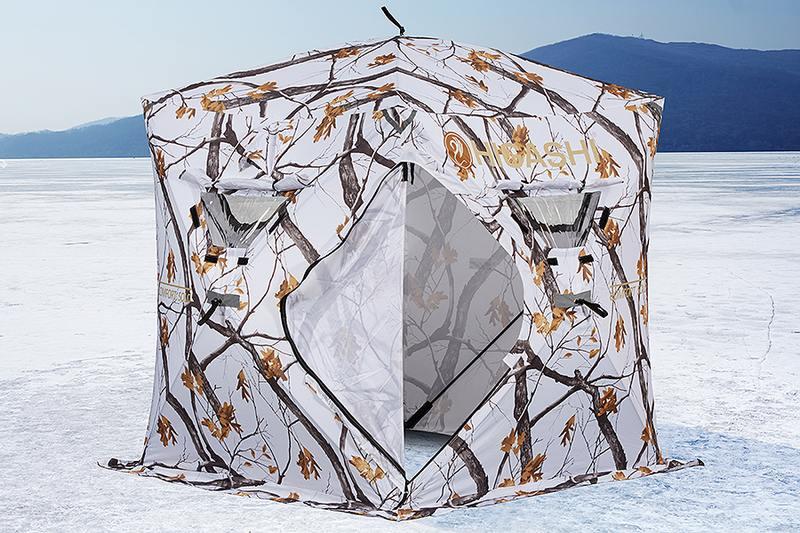 Квадратная форма палатки куб позволяет более эффективно использовать внутреннее пространство