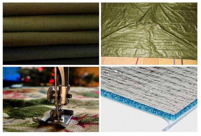 Материалы и инструменты для изготовления пола для палатки