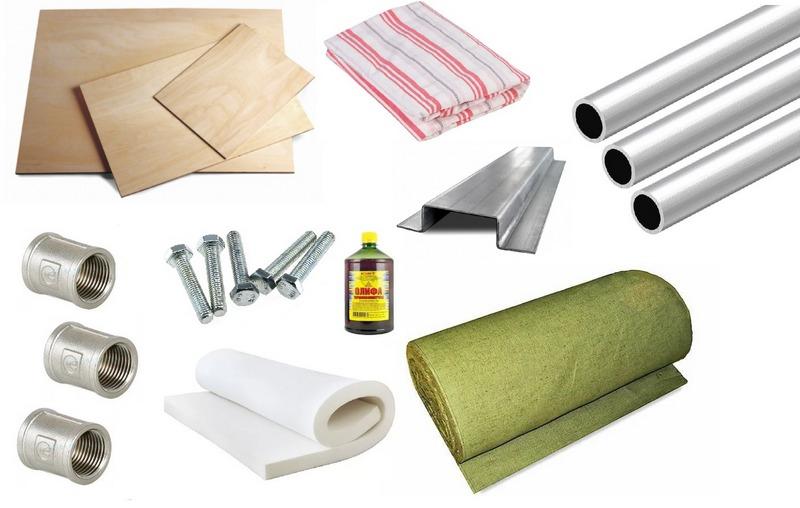 Материалы и инструменты, которые понадобятся для изготовления палатки