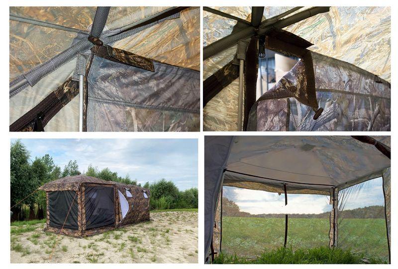Монтаж москитной веранды на палатку «Куб»