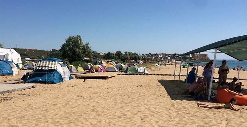 Палаточный городок около д. Орловка