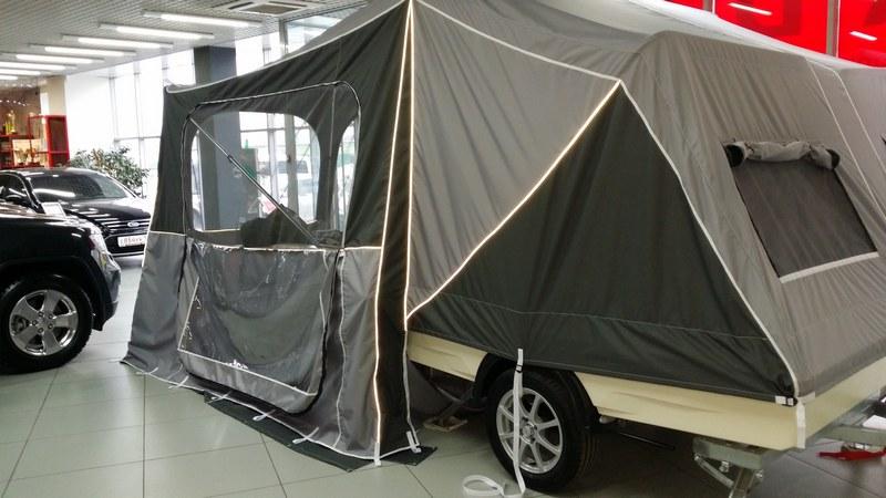Прицеп-палатка «Пикник» от российского производителя, способна первозить грузы массой до 750 кг