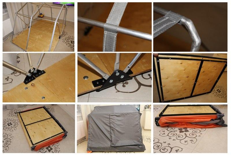 Процесс изготовления палатки на крышу автомобиля