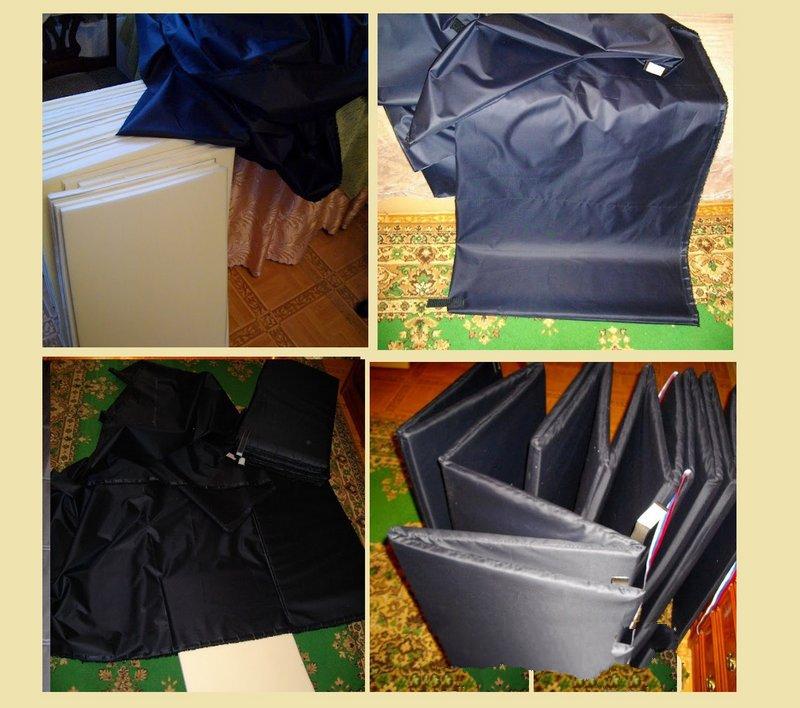 Процесс изготовления теплого пола для палатки