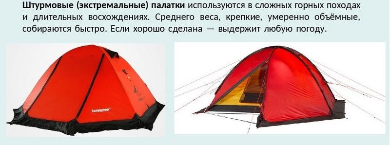 Штурмовые палатки
