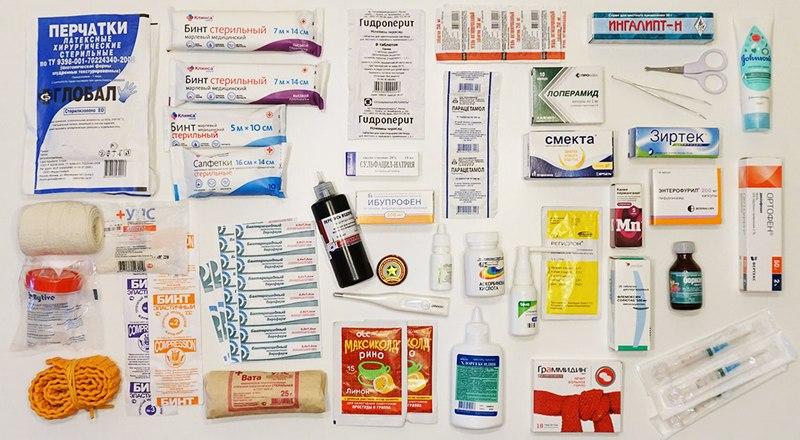 Состав походной аптечки туриста