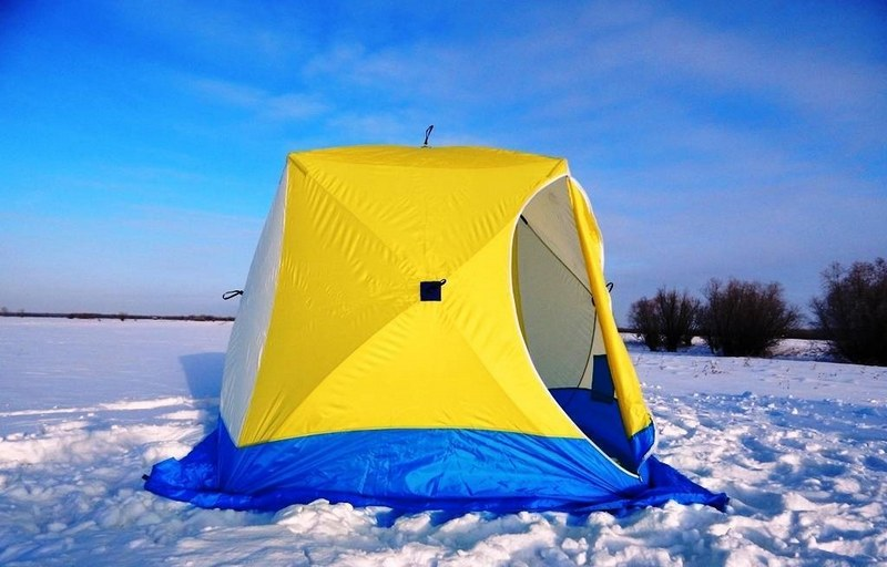 Зимняя палатка подходит для отдыха на природе в холодное время года