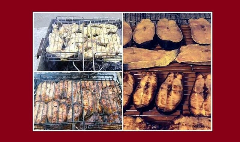 Барбекю из стейков сома - это изысканное блюдо, которое сложно отличить от деликатеса профессионального повара
