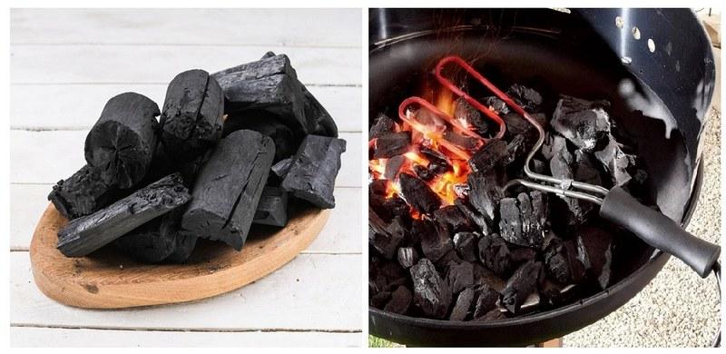 Для готовки на мангале можно использовать древесный уголь
