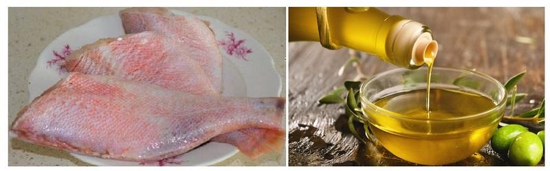 Для приготовления рыбы рекомендуется использовать оливковое масло