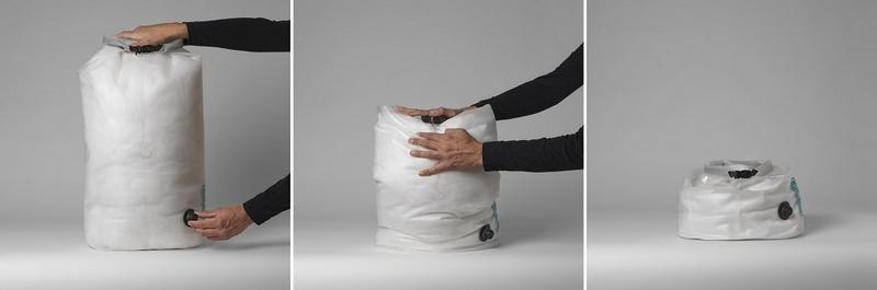 Для упаковки вещей используют гермосумки или компрессионные мешки