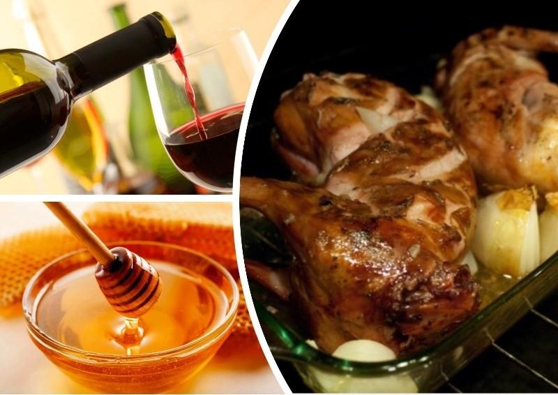 Кролик в духовке под винно-медовым соусом - оригинальное блюдо, которое станет главным акцентом на любом столе