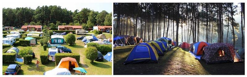Места для ночлега в пути: кемпинг и палаточный лагерь