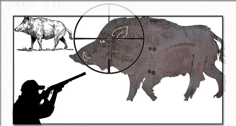 Охотник должен определить точку прицеливания и стрельбы