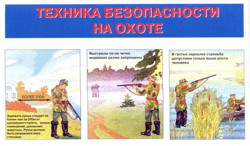 Охотник должен строго соблюдать меры безопасности по обращению с ружьем