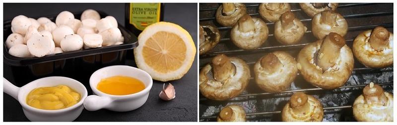 Шампиньоны с лимоном и горчицей получаются сочными с удивительно пикантным вкусом
