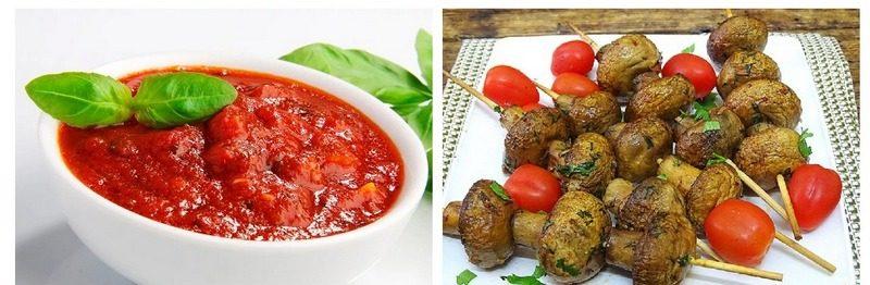 Шампиньоны в томатном соусе на мангале - это отличное дополнение к овощному гарниру или шашлыкам