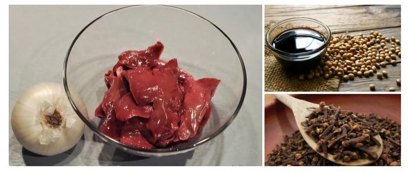 Шашлык из печени кролика в соевом соусе получается необычно ароматным и нежным
