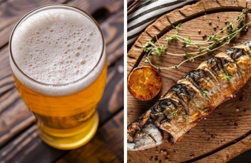 Скумбрия на решетке в пивном маринаде получается сочной и мягкой, а соус с пивом – оригинальным на вкус