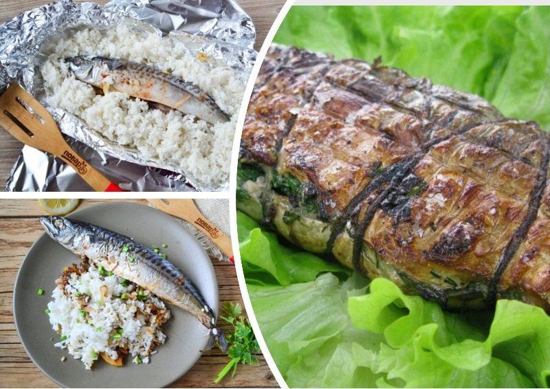 Скумбрия в любом виде отлично сочетается с зеленью, рисом и макаронами