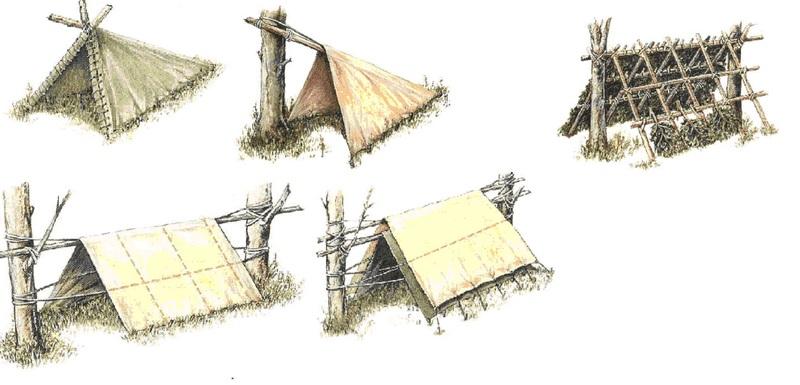 Создание ночлега в походных условиях в лесу