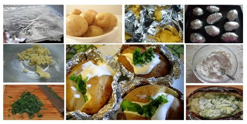 Способ приготовления фаршированного картофеля