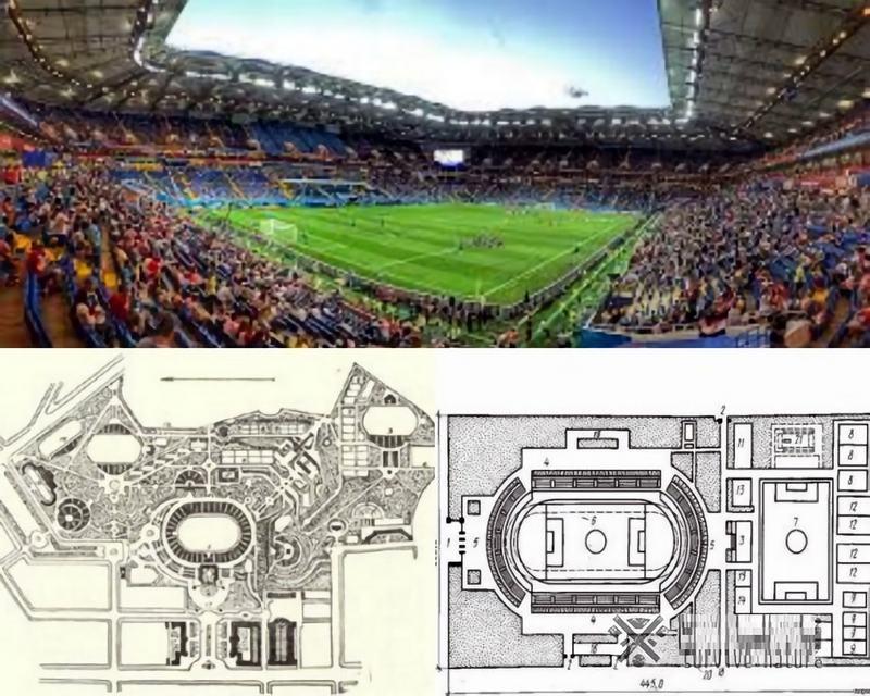 Стадионы обычно отмечают только на специфических планах