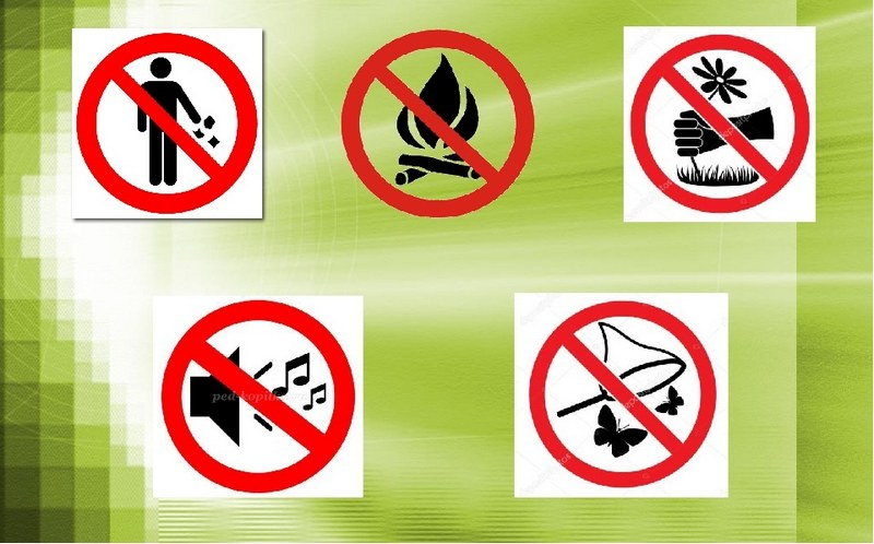 Виды запрещающих знаков