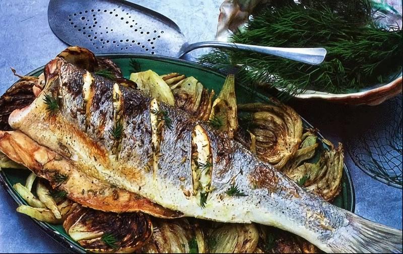 Жареный морской окунь с фенхелем приятно удивит своим оригинальным вкусом