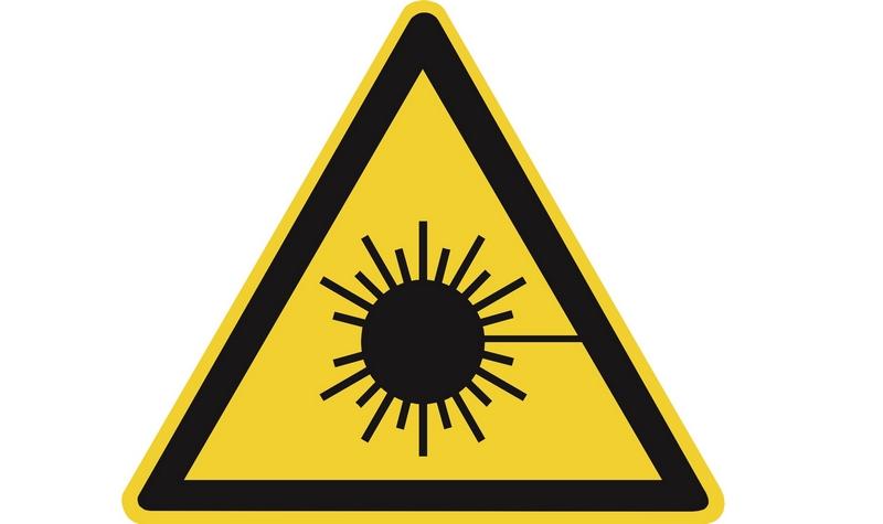 Знак опасности лазерного излучения